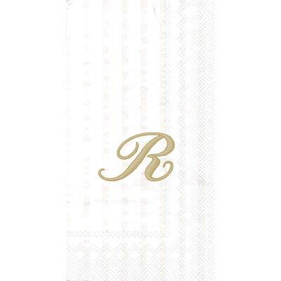 Monogram Paper Guest Hand Towel Letter: Q