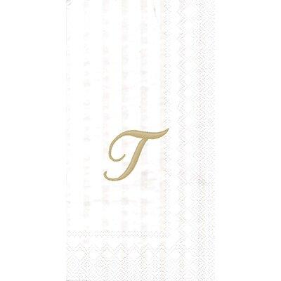 Monogram Paper Guest Hand Towel Letter: S