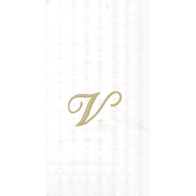 Monogram Paper Guest Hand Towel Letter: U