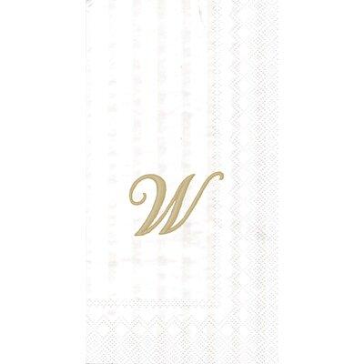 Monogram Paper Guest Hand Towel Letter: V