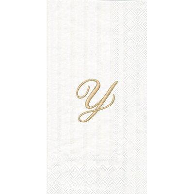 Monogram Paper Guest Hand Towel Letter: W