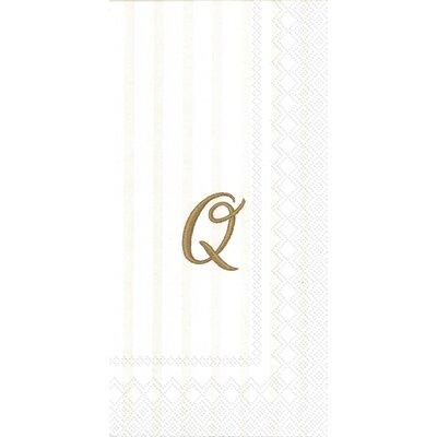 Monogram Paper Guest Hand Towel Letter: X