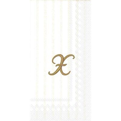 Monogram Paper Guest Hand Towel Letter: Y