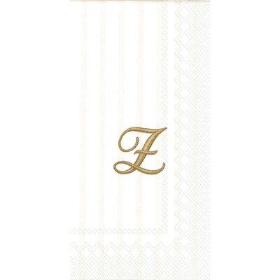 Monogram Paper Guest Hand Towel Letter: Z