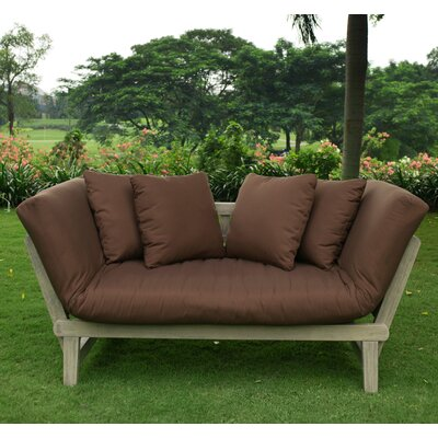 Porto Loveseat with Cushions Fabric: Cappuccino