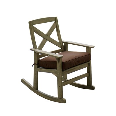 Porto Rocking Chair with Cushion Color: Cappucino