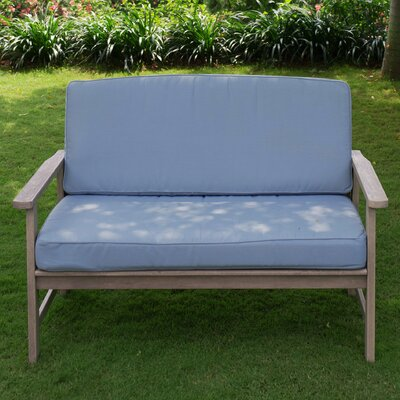 Porto Sofa with Cushion Finish: Spruce Blue