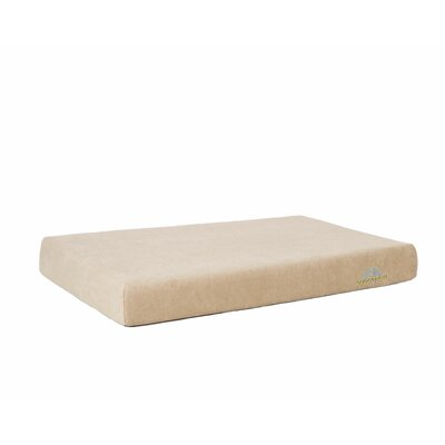 Comfort Deluxe Dog Bed Size: 48 L x 32 W, Color: Champagne