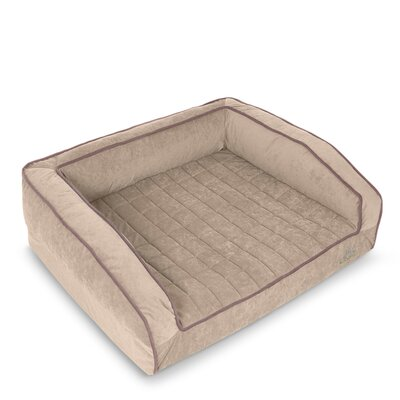 Crown Supreme Bolster Dog Bed Size: Large, Color: Champagne Beige