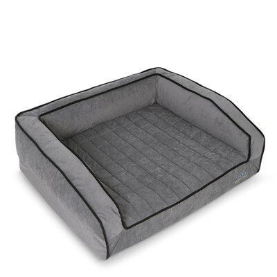 Crown Supreme Bolster Dog Bed Size: Extra Large, Color: Fathom Gray