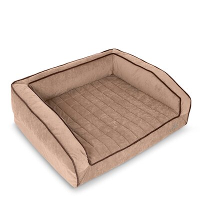 Crown Supreme Bolster Dog Bed Size: Large, Color: Iced Mocha