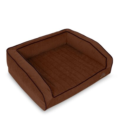 Crown Supreme Bolster Dog Bed Size: Medium, Color: Dark Chocolate