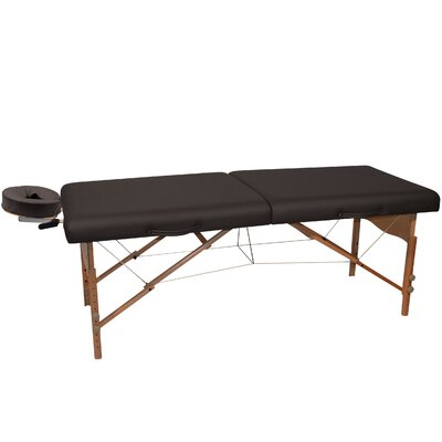 Pro Portable Massage Table Color: Black