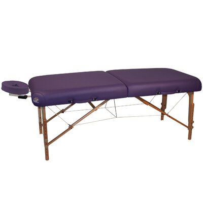 Ultimate Portable Massage Table Color: Purple