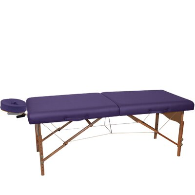 Pro Portable Massage Table Color: Purple