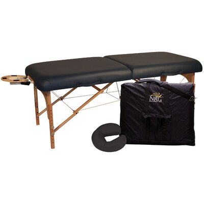 Deluxe Portable Massage Table Color: Black