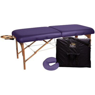 Deluxe Portable Massage Table Color: Purple