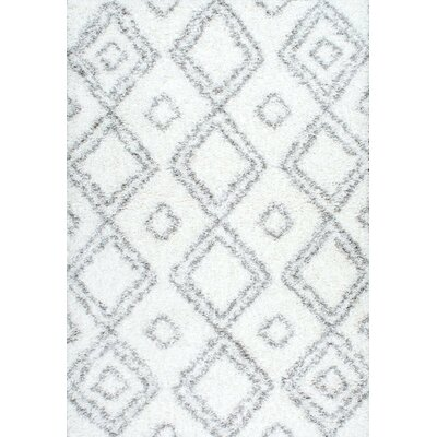 Baxley White Area Rug Rug Size: Rectangle 4 x 6