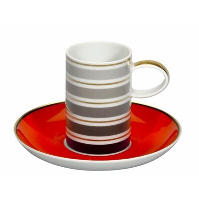 Vista Alegre Casablanca Coffee Cup and Saucer (Set of 4) 21108614
