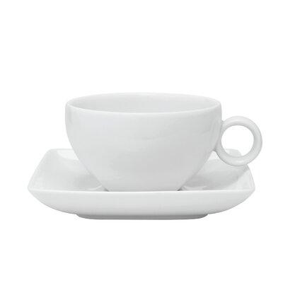 Vista Alegre Carr� White Tea Cup and Saucer (Set of 4) 21090484