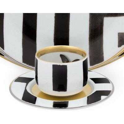 Vista Alegre Sol Y Sombra Tea Cup and Saucer (Set of 4) 21117719