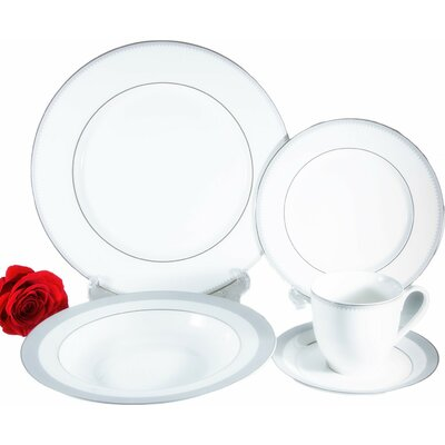 Crenelle Bone China 20 Piece Dinnerware Set, Service for 4 500000038