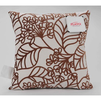 Spring Bloom Decorative Throw Pillow Size: Large, Color: Brown