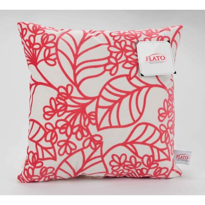 Spring Bloom Decorative Throw Pillow Size: Large, Color: Red