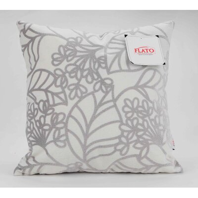 Spring Bloom Decorative Throw Pillow Size: Large, Color: Silver
