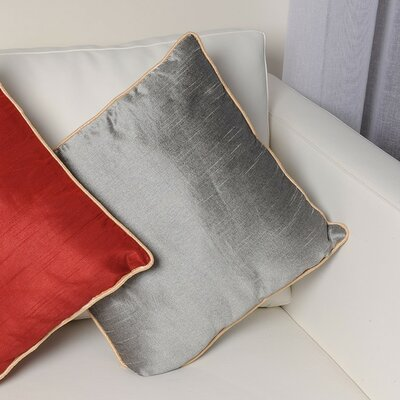 Tuscany Zipper Throw Pillow Color: Silver
