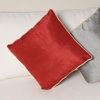 Tuscany Zipper Throw Pillow Color: Burgandy