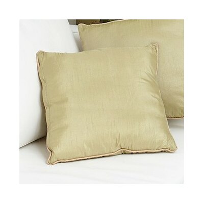 Tuscany Zipper Throw Pillow Color: Green