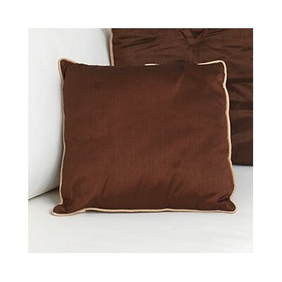 Tuscany Zipper Throw Pillow Color: Chocolate