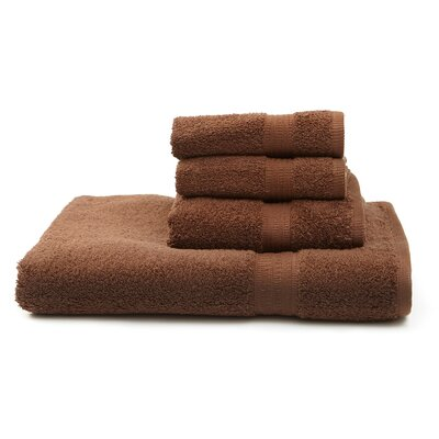 Terry 4 Piece Towel Set Color: Chocolate