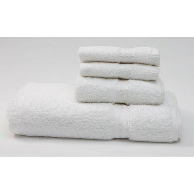 Terry 4 Piece Towel Set Color: White