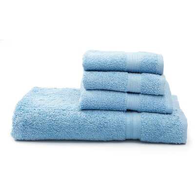 Terry 4 Piece Towel Set Color: Light Blue