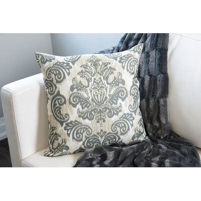 Emerald Damask Throw Pillow