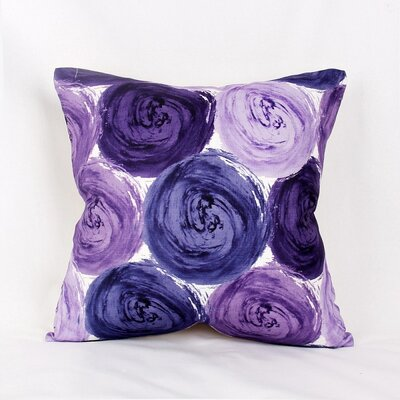 Impasto Circles Throw Pillow Color: Purple