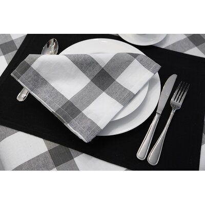 Check Napkin Color: Grey/Charcoal