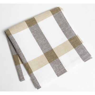 Check Napkin Color: Taupe/Brown