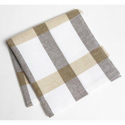 Check Napkin Color: Taupe/Brown