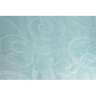 Silky Swirl Throw Blanket Color: Teal