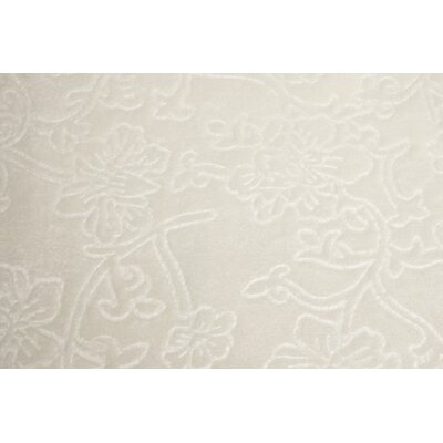 Silky Flora Throw Blanket Color: Ivory