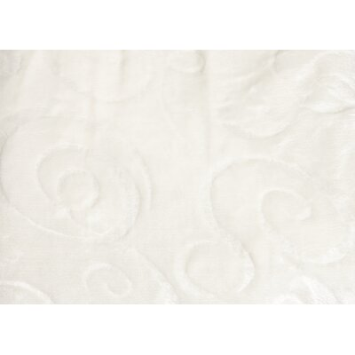 Silky Swirl Throw Blanket Color: Ivory