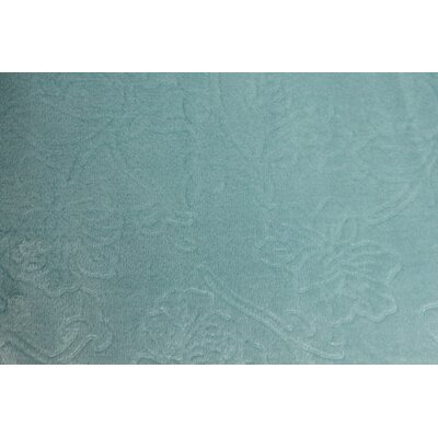 Silky Flora Throw Blanket Color: Teal