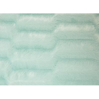 Mink Faux Fur Throw Color: Sea Foam Green