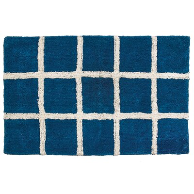 Hopscotch Bathroom Doormat Color: Navy
