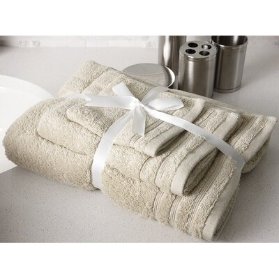 Edged Terry 3 Piece Towel Set Color: Beige