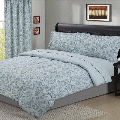 Black Hog 5 Piece Comforter Set Size: Full/Queen, Color: Dusty Blue