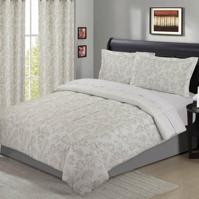 Black Hog 5 Piece Comforter Set Size: Full/Queen, Color: Neutral Gray